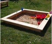 Sandkasten 180x180 cm
