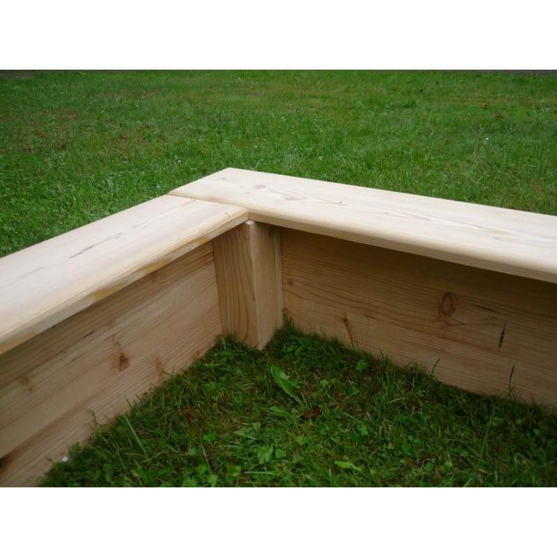 Beliebt Stabiler Sandkasten aus Lärche mit breitem Sitzrand RG21